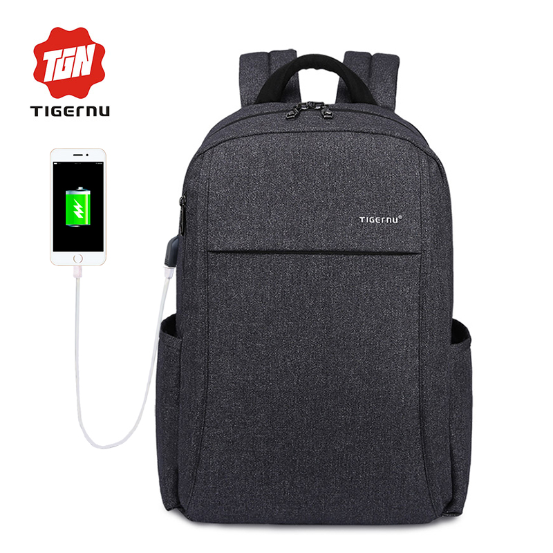 Tigernu 15.6inch Anti-theft External USB charge Laptop Backpack School backpack Travel Mochila kingsons external charging usb function school backpack anti theft boy s girl s dayback women travel bag 15 6 inch 2017 new
