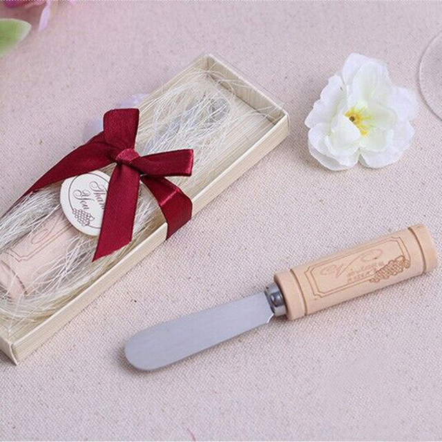 Vintage Reserve Stainless Steel Cheese Spreader With Wine Cork