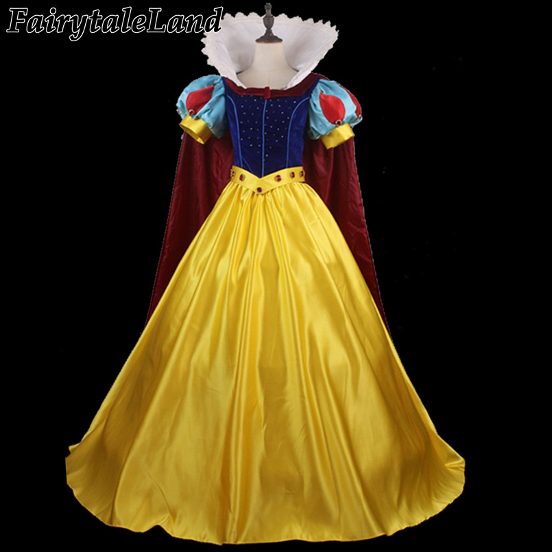 Newest diamond fancy costume custom made Snow White cosplay costume Princess adult women Halloween dress