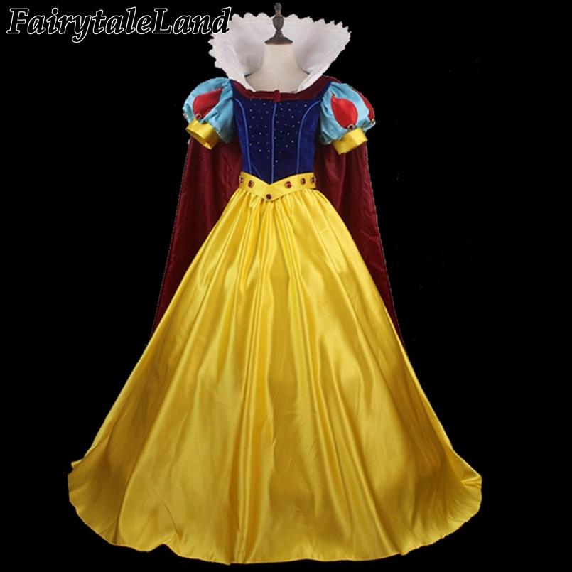 Newest Diamond Fancy Costume Custom Made Snow White Cosplay Costume Princess Adult Women Halloween Dress