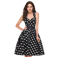 2015 Cheap Grace Karin Elegant Best Stock Cotton Polka Dots Ball Gown Cocktail Evening Prom Party