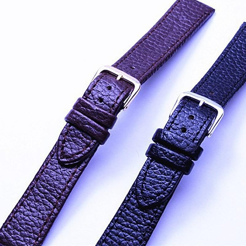 New watch bracelet belt purple watchbands genuine leather strap watch band 12mm 14mm 16mm 18mm for Violet leather strap watch