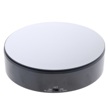 PVC Mirrored Display Base Electric Rotating Turntable Phone Bag Show Stand Black for 360 Degree Images merchandise display base 360 degree electric rotary table display for photography 25cm automatic revolving platform handicraft