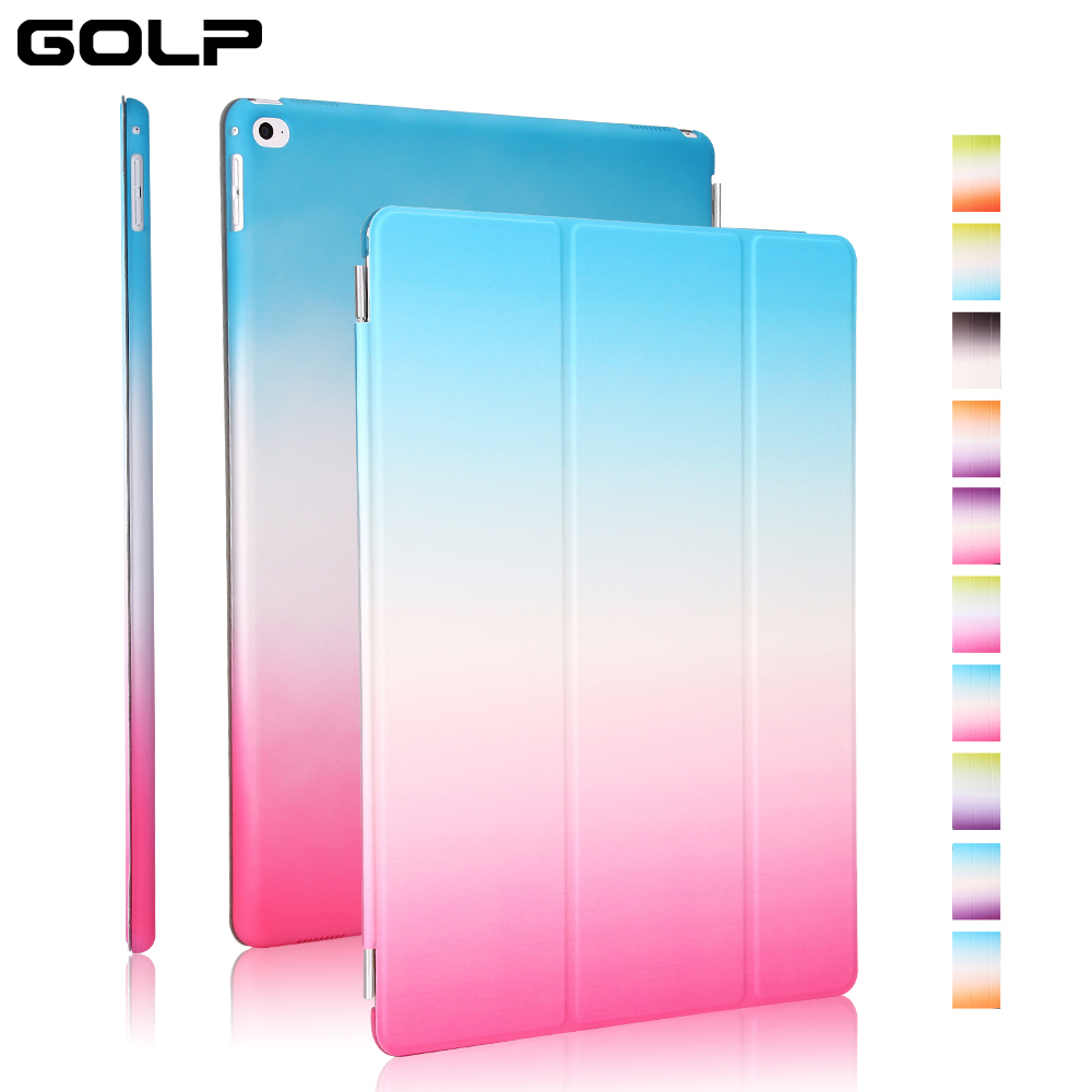 Case for iPad Pro 12.9, GOLP 2 in 1 Two color PU Leather Cover translucent PC back tablet Cover for iPad Pro 12.9 case case for ipad pro 12 9 case tablet cover shockproof heavy duty protect skin rubber hybrid cover for ipad pro 12 9 durable 2 in 1