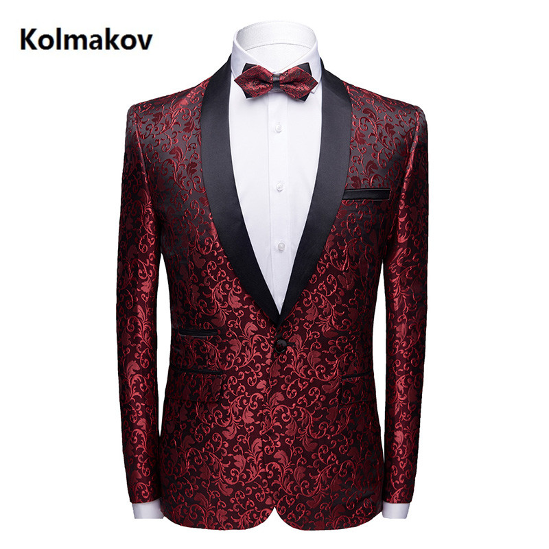 2019 NEW Brand business Embroidery Blazers mens Suits Jackets slim fit men's blazer Masculino Top Quality Dress  size S-3XL 4XL
