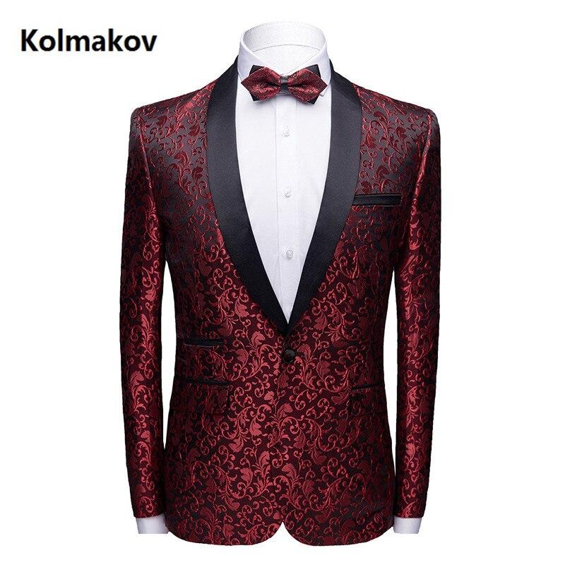 2019 nouvelle marque d'affaires broderie Blazers hommes costumes vestes slim fit hommes blazer Masculino Top qualité robe taille S-3XL 4XL