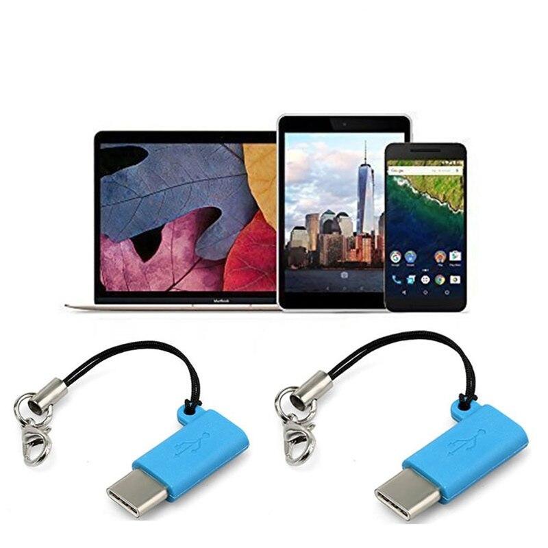 Адаптер Type C OTG с разъемом Male-Micro USB и разъемом USB C Type-C для зарядки и синхронизации данных для телефона Samsung Galaxy LG USB-C