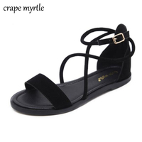 Women Shoes Sandals Comfort Sandals Summer Flip Flops Fashion High Quality Cross Strap Flat Sandals Gladiator