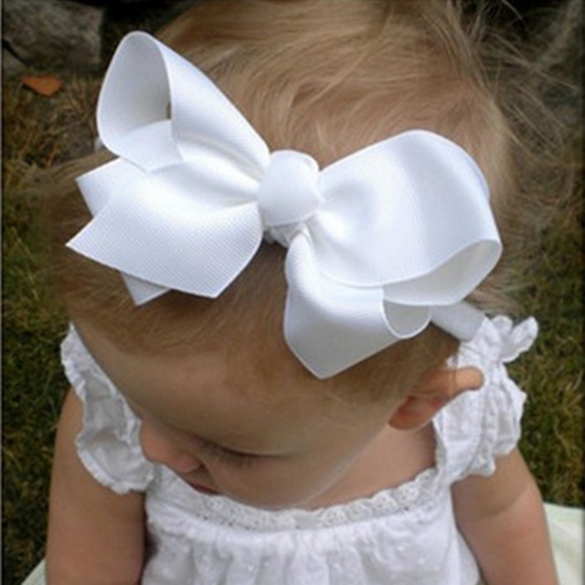 16 Colors Small Girls Big Bow Headband Newborn Bebe Hair Accessories Elastic Hair Bands Cute Kids Girls Headbands 1PC HB179