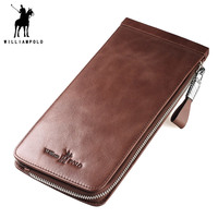 WILLIAMPOLO 2018 Leather Men Wallets Wallets Man Card Holder Male Purse Men With Placement POLO185135