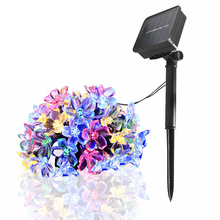 7M Solar LED String Lights Christmas Fairy Light Outdoor Waterproof Holiday Lighting Street Garland 50LED Party Tree Decoration cheap Leclstar 1 year Plastic NI-MH LED Bulbs None Wedge Solar Cell 700cm 1-5m White PURPLE Multi 20-50 head Waterproof Peach Flower Solar Powered Lamp