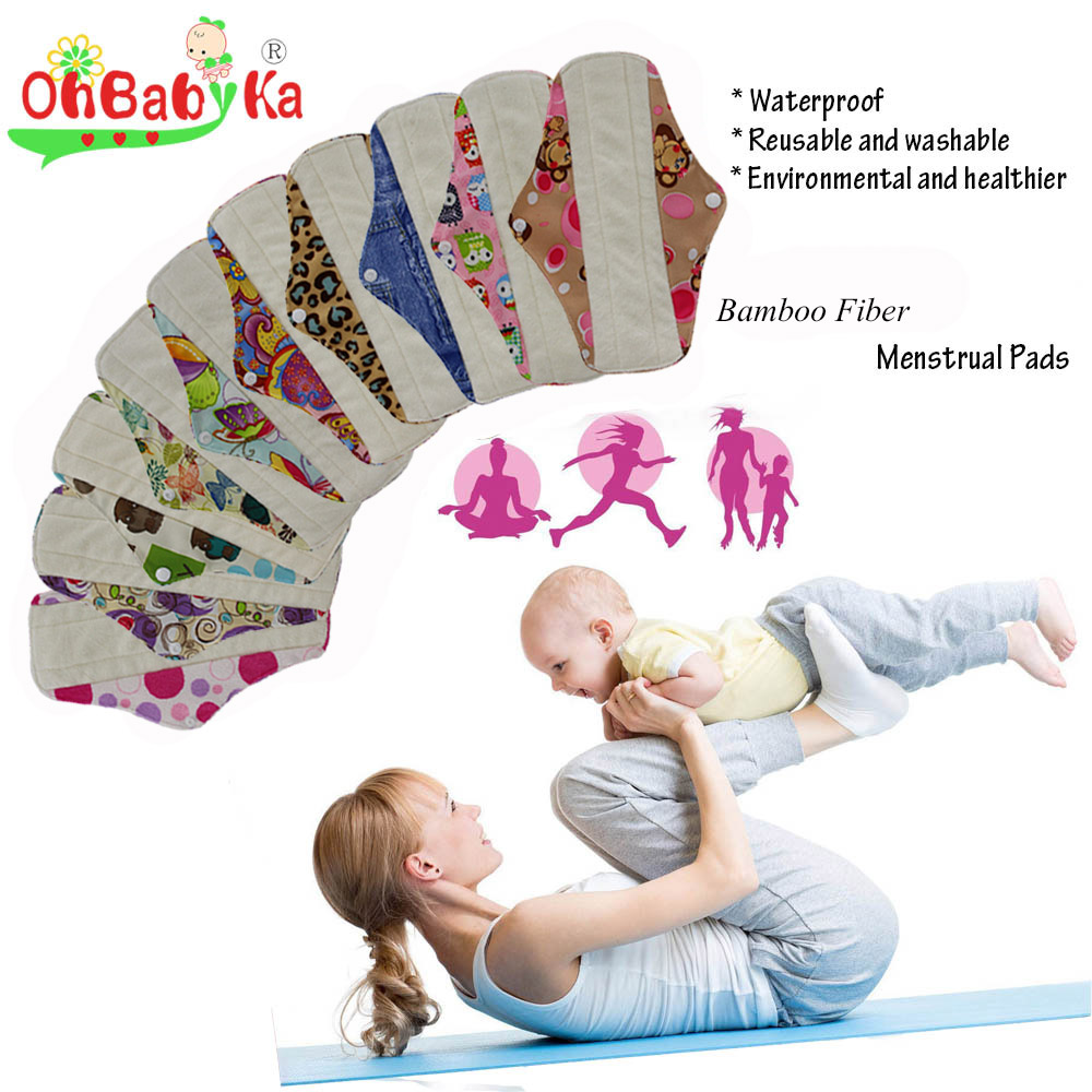Washable Sanitary Pads Toallas Sanitaria Cloth Pads Reusable Character Print Feminine Higiene Women Mestryal Pads Panty Liners