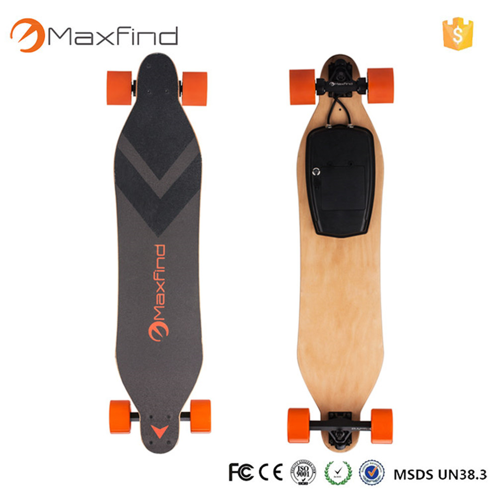 2017 Maxfind newest 4 wheel skateboard electric skateboard longboard for adults maxfind electric skateboard longboard 4 wheels hub motor samsung battery for adults