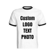Индивидуальная Мужская футболка с коротким рукавом хлопковые