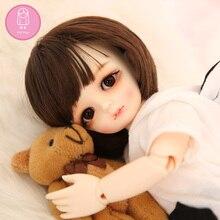 Парик для куклы BJD 1/6 Napi Maron imda Gian высокотемпературный короткий парик Девушка bjd SD кукольный парик в красоту с челкой