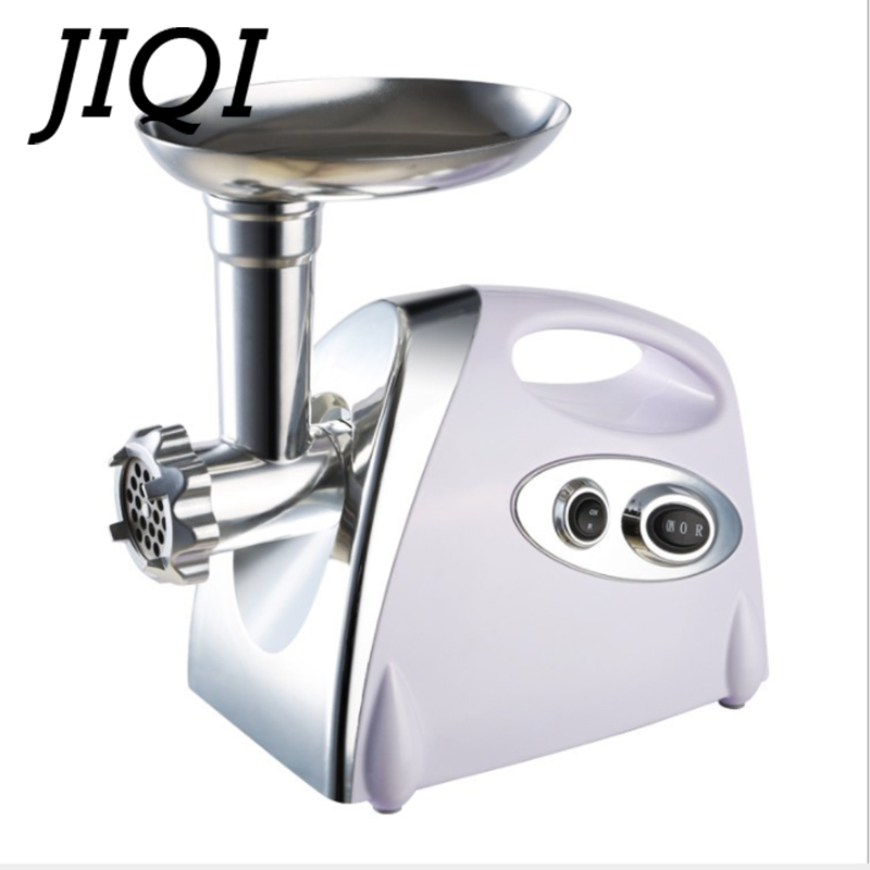 цена на JIQI Multifunctional Home Electric Meat Grinder chopper Stainless Steel Sausage Stuffer Mincer Maker Kitchen Tool