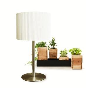 Простой современный белый тканевый абажур никелевая настольная лампа красивые настольные светильники прикроватные лампы для спальни Бесп...