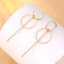 Boucles d'oreilles Punk simples, Section couleur or/argent, pendentif, taille cercle, cadeaux pour dames, nouvelle tendance 2020
