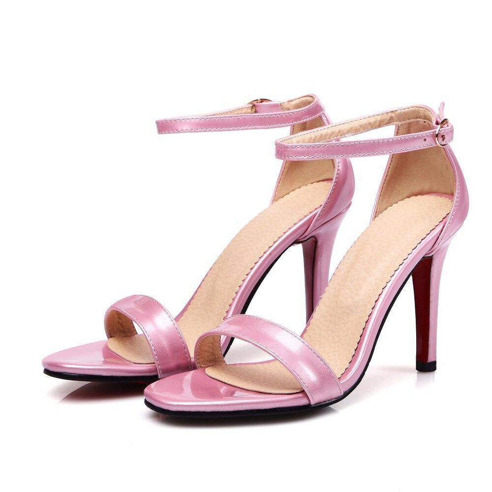 45 Alto Banquete Sexy 13 Limitada Pink De Boda Gran Nueva Mujeres 10 rose Talón 30 Zapatos rojo Del 2017 Gladiador Pink nude Mujer Tamaño Moda Señora Sandalias Negro Bombas AvYqYO