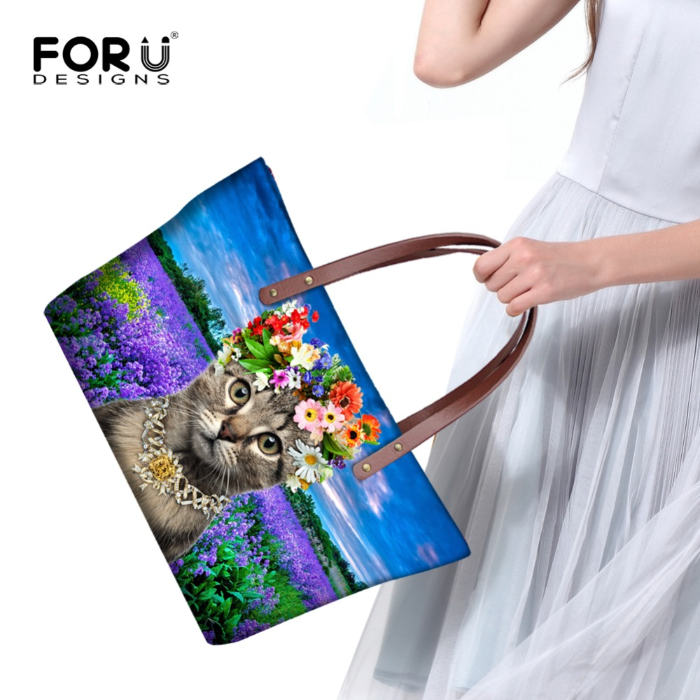 forudesigns linda mulher gato bolsa Item : Fashion Shoulder Bags For Women