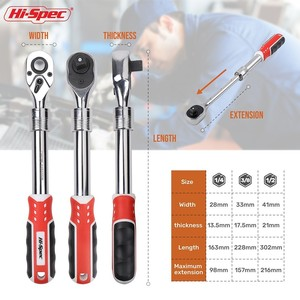 Image 3 - Hi Spec Torque Ratchet Wrench 1/4 3/8 1/2 Inch Telescopic Socket Wrench Flexible Adjustable Wrench Spanner Hand Tools Wrenches