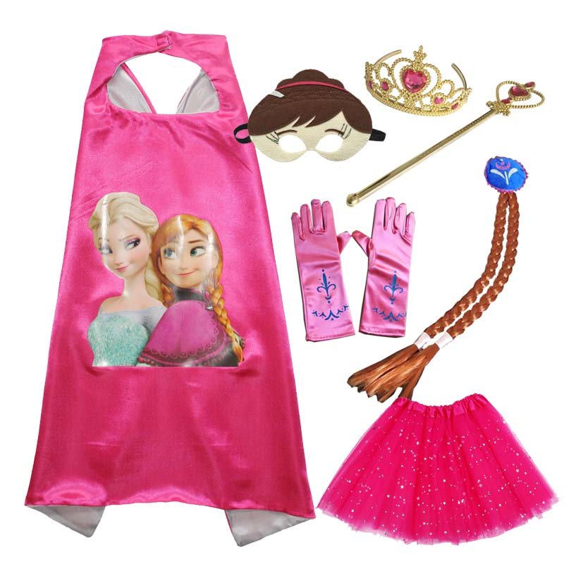 Anna Inspired Cape with Mask Tutu Dress Handmade Anna Fancy Dress Costume Birthday Party Dress World Book Day