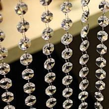 5 м акриловая Хрустальная Гирлянда DIY свадебное украшение восьмиугольная Алмазная акриловая Хрустальная занавеска прозрачная подвесная подвеска из бисера