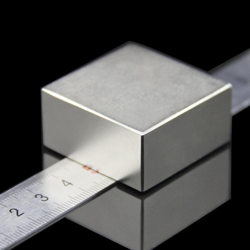 1 STKS blok 40x40x20mm Super Krachtige Sterke Rare Earth Blok NdFeB Magneet Neodymium N52 Magneten-gratis Verzending