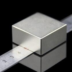 1 Uds. Bloque 40x40x20mm súper potente fuerte bloque de tierras raras NdFeB imán de neodimio N52 imanes-Envío Gratis