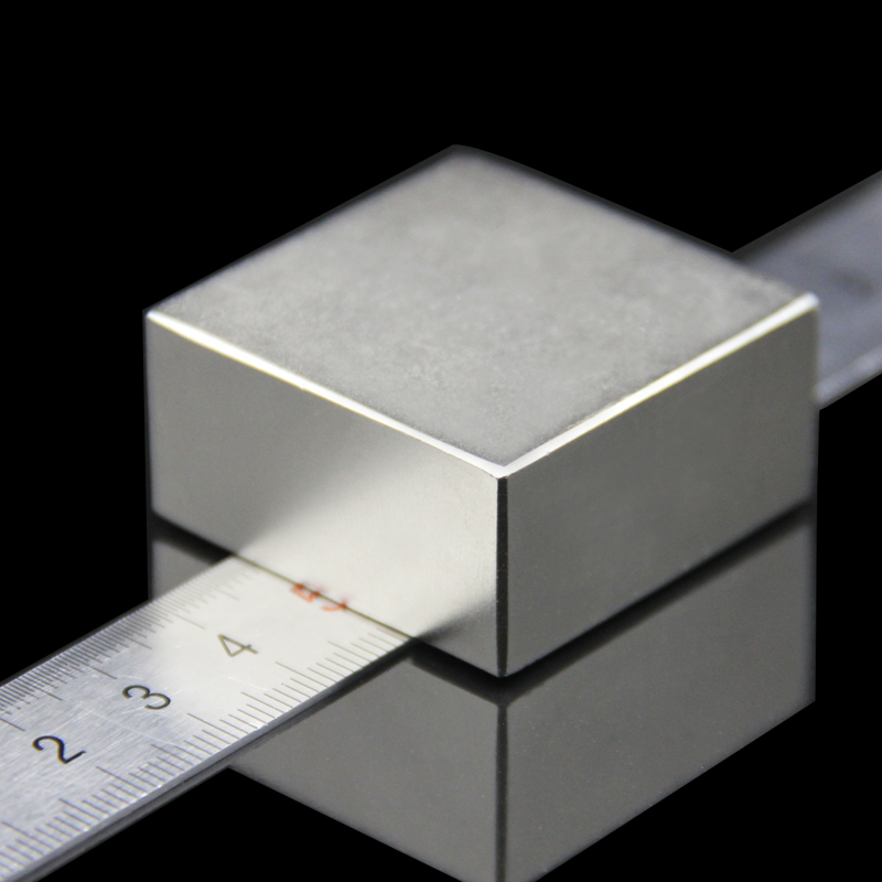 1 piezas de 40x40x20mm súper poderoso fuerte raro bloque de tierra NdFeB imán de neodimio de N52 imanes -Envío gratis