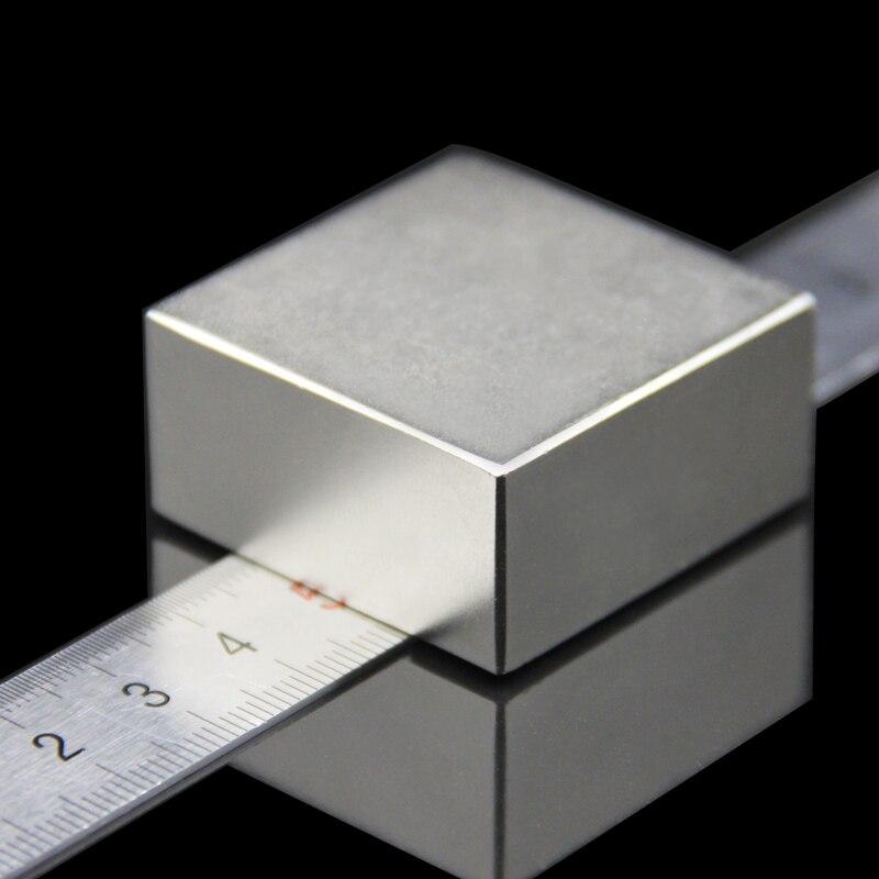 1 unids bloque 40x40x20mm súper poderoso fuerte raro bloque de tierra NdFeB imán de neodimio de N52 imanes-Envío Gratis