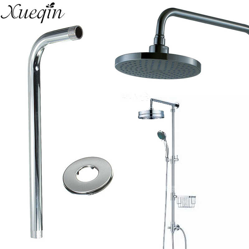 xueqin 32cm bathroom wall mounted shower extension arm for rain shower head extension pipe shower arms