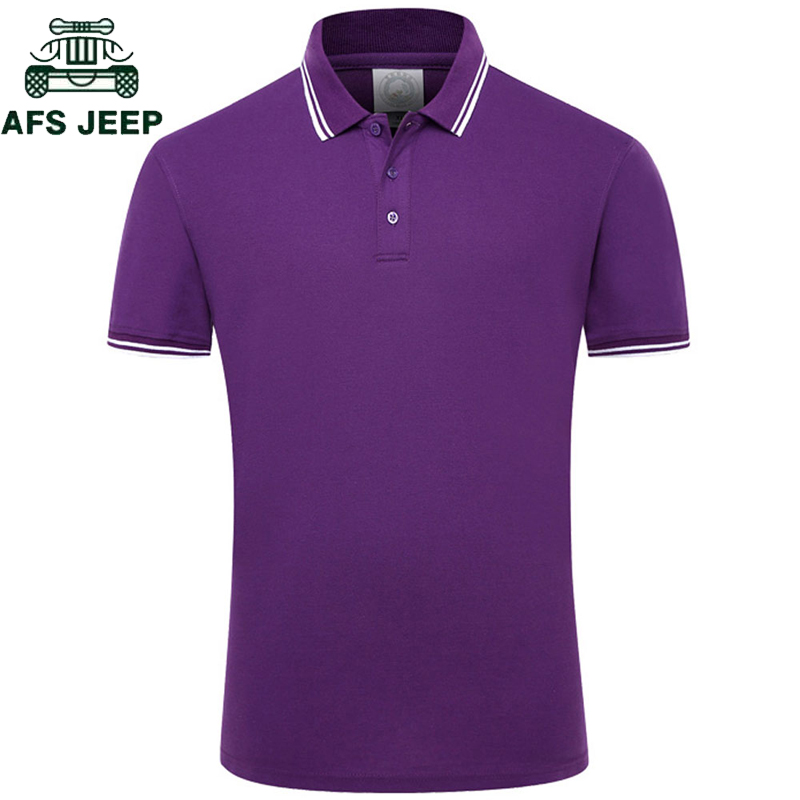 Novo 2018 cor sólida verão camisas polo masculina algodão manga curta respirável anti-pilling marca polos para hombre plus size S-4XL