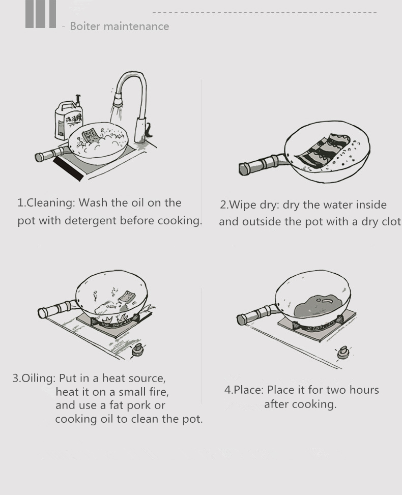 gás tradicional panela artesanal enorme manual forjamento wok com binaural 38 40cm