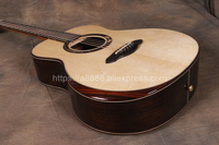 Full Solid Guitar,38 Solid Spruce Top/Solid Rosewood Body,Travel guitar + 20mm cotton bag,(Cupid's Arrow),TA GSmini40A