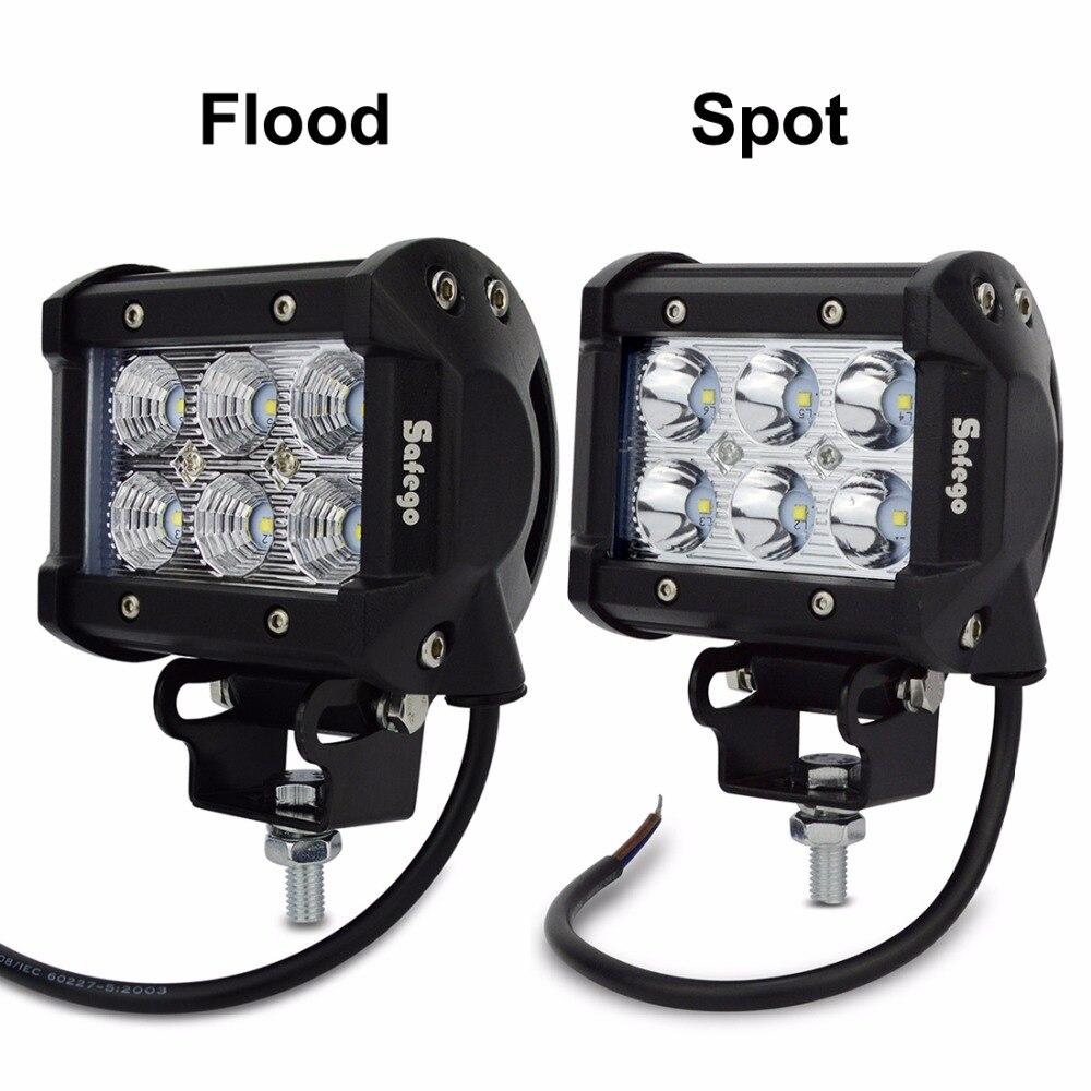 Safego 2pcs LED işiq çubuğu 18w 4Torpaq traktoru üçün yol 4WD - Avtomobil işıqları - Fotoqrafiya 3