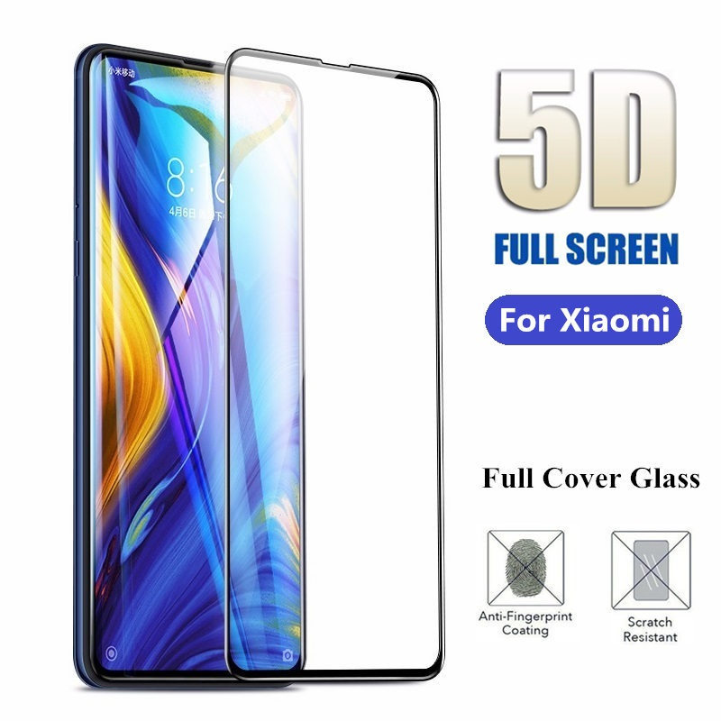 New 5D Tempered Glass For Xiaomi 6 8 Pro 9 SE Pocophone F1 Mi Note 3 8 Lite 5X A1 6X Mix 3 MAX 3 Full Cover Screen Protector