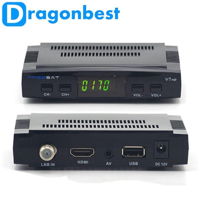 ФОТО Free shipping Stock Youtube free video DVB-S2 1080p full hd satellite receiver freesat V7 iptv set top box with FREESAT V7 Satel
