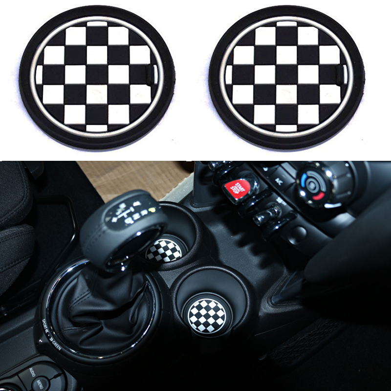 2 78mm Black White Soft Silicone Car Styling Cup Holder Coasters For Mini Cooper R60 Countryman F55 3rd Gen Front Cupholders In Anti Slip Mat From