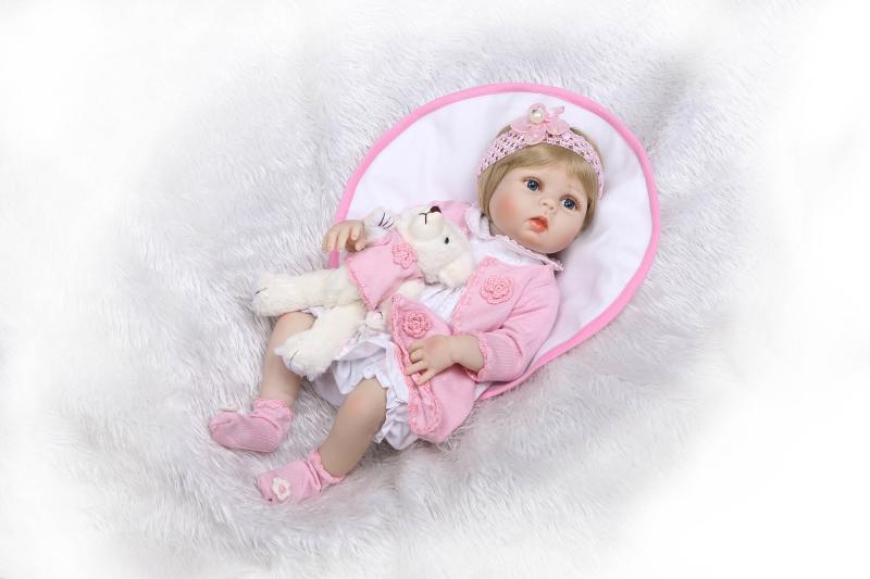 NPK Real touch 56 см Силиконовые Реалистичные Bonecas Новорожденные Реалистичная Магнитная соска bebes куклы Reborn Младенцы игрушки для chid