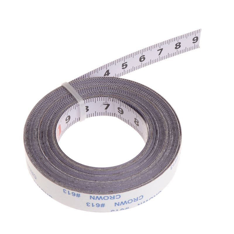 2019 New Miter Saw Track Tape Measure Self Adhesive Backing Metric Steel Ruler 1/2/3/5M Measurement Analysis Instruments