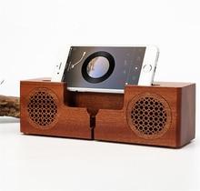 Wood Wi-fi Bluetooth Speaker Telephone Holder Stand HiFi Bass TF Music Soundbar