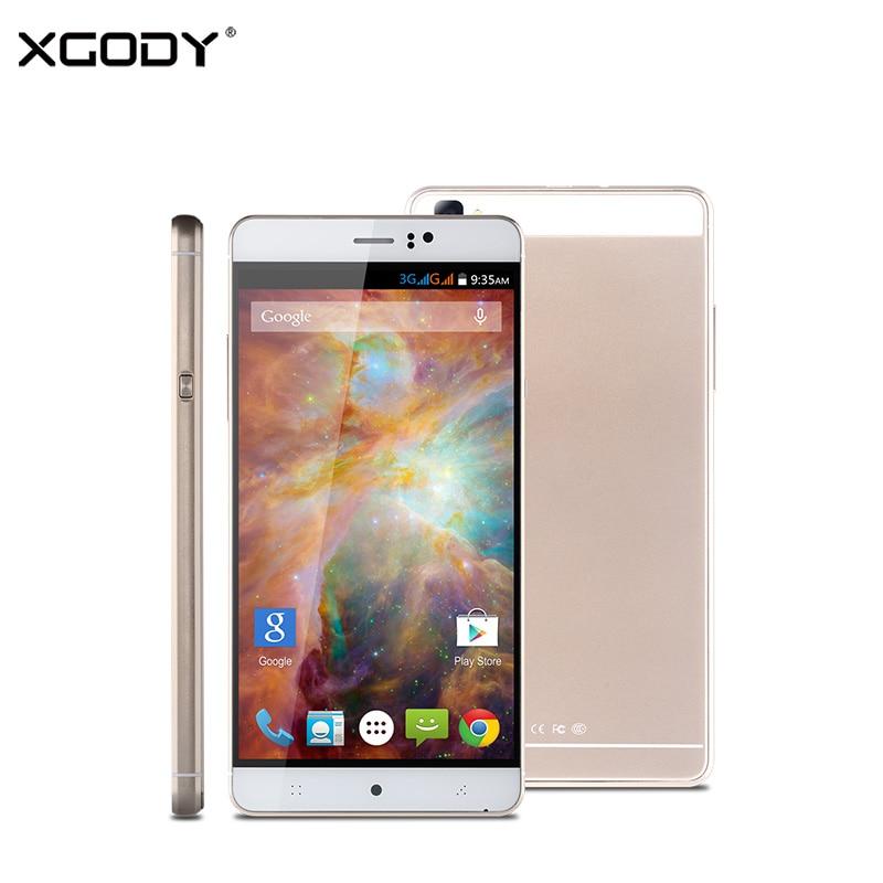 Xgody original 6 pulgadas 3g smartphone android 5.1 mtk quad core de doble tarje