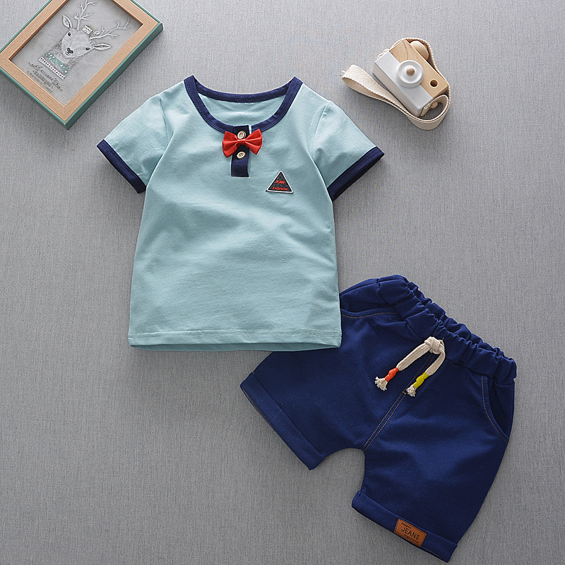 Bibicola baby fashion clothing set todder children summer clothes baby boys T shirt +shorts 2 pcs suits boys leisure tracksuit