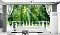 Modern Natural 3D Mural Wallpaper Out Of The Woods Landscape Photo Prints On Embossed Wall Paper