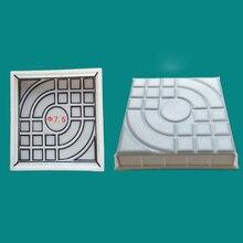 DIY квадратная садовой дорожки бетонной Пластиковая форма для кирпича тротуарная дорожка 27x27x4 см садовые здания аксессуары