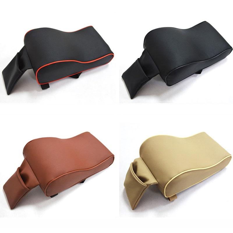 CHIZIYO Universal Car PU Leather Armrest Box Mats Car Interior Armrest Pad Set Central Arm Hand Box Pad Armrest Top Mat Liner