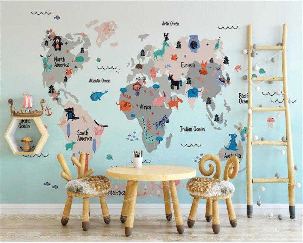 Dieren Behang Kinderkamer : Beibehang custom behang meubilair decoratie muurschildering hand