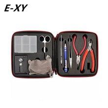 E-XY Magic CW Tool Coil Vape Complete kit E-cig Master Tweezers DIY jig Meter Tester PE Box Mod Rda RBA Atomizer Vapor Kit
