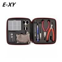 E-XY Magia CW Strumento Coil Vape kit Completo E-cig Maestro Pinzette FAI DA TE jig Tester del Tester PE Box Mod Rda RBA Atomizzatore Vapor Kit